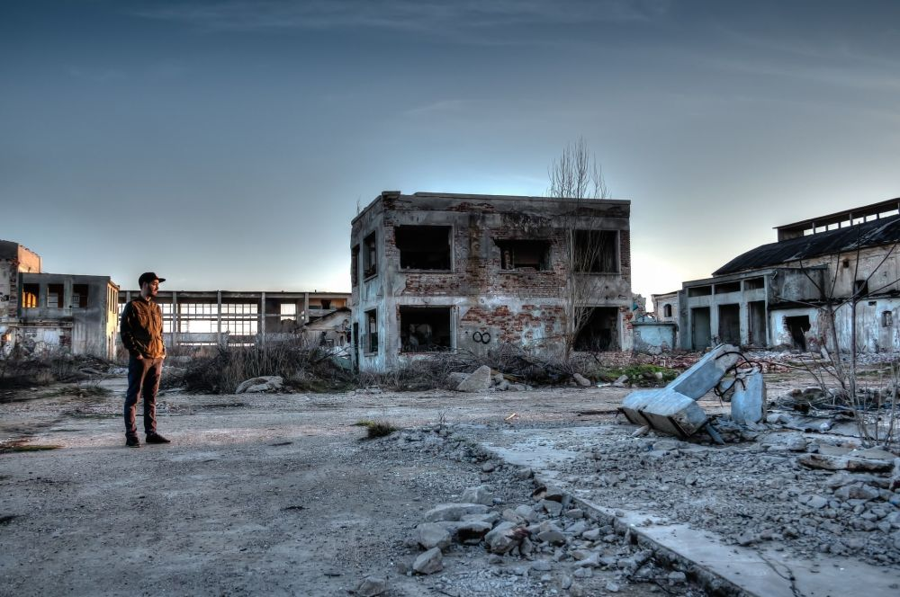 在切尔诺贝利核电站中被废弃的区域