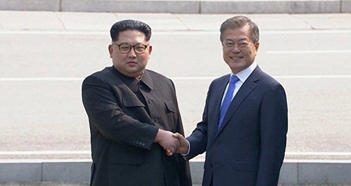 歷史性會晤:朝韓領導人舉行首輪會談