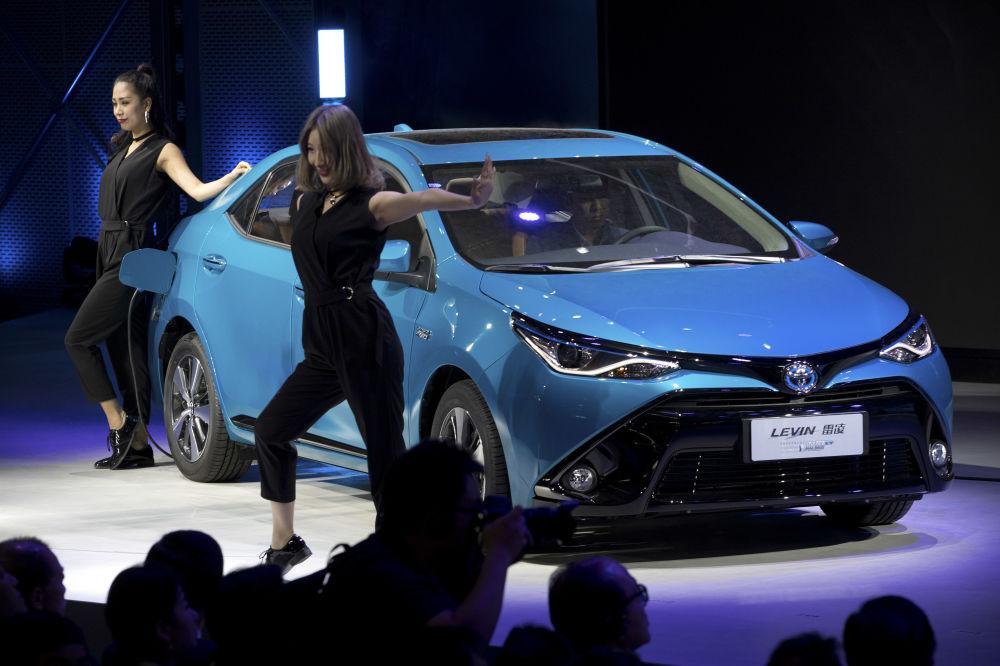 在北京展出的丰田雷凌(Toyota Levin)汽车