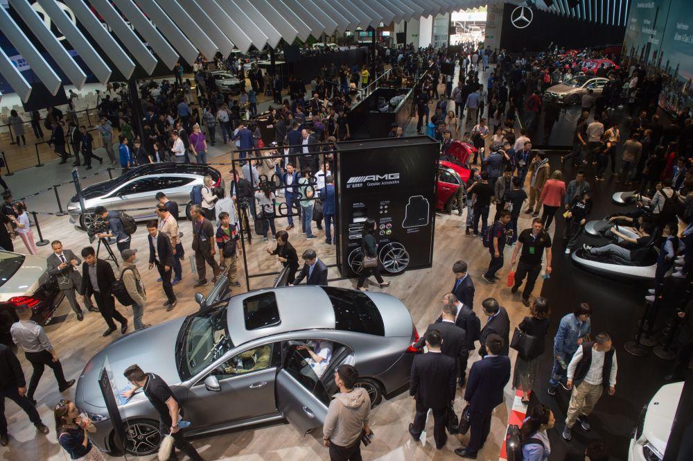 北京国际车展访客