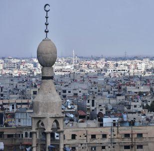 Дома в пригороде Дамаска у лагеря палестинских беженцев Ярмук