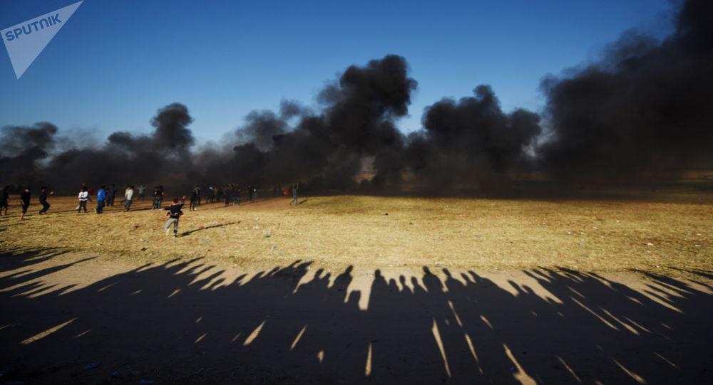 加沙地带边境7日的冲突导致17名巴勒斯坦人受伤