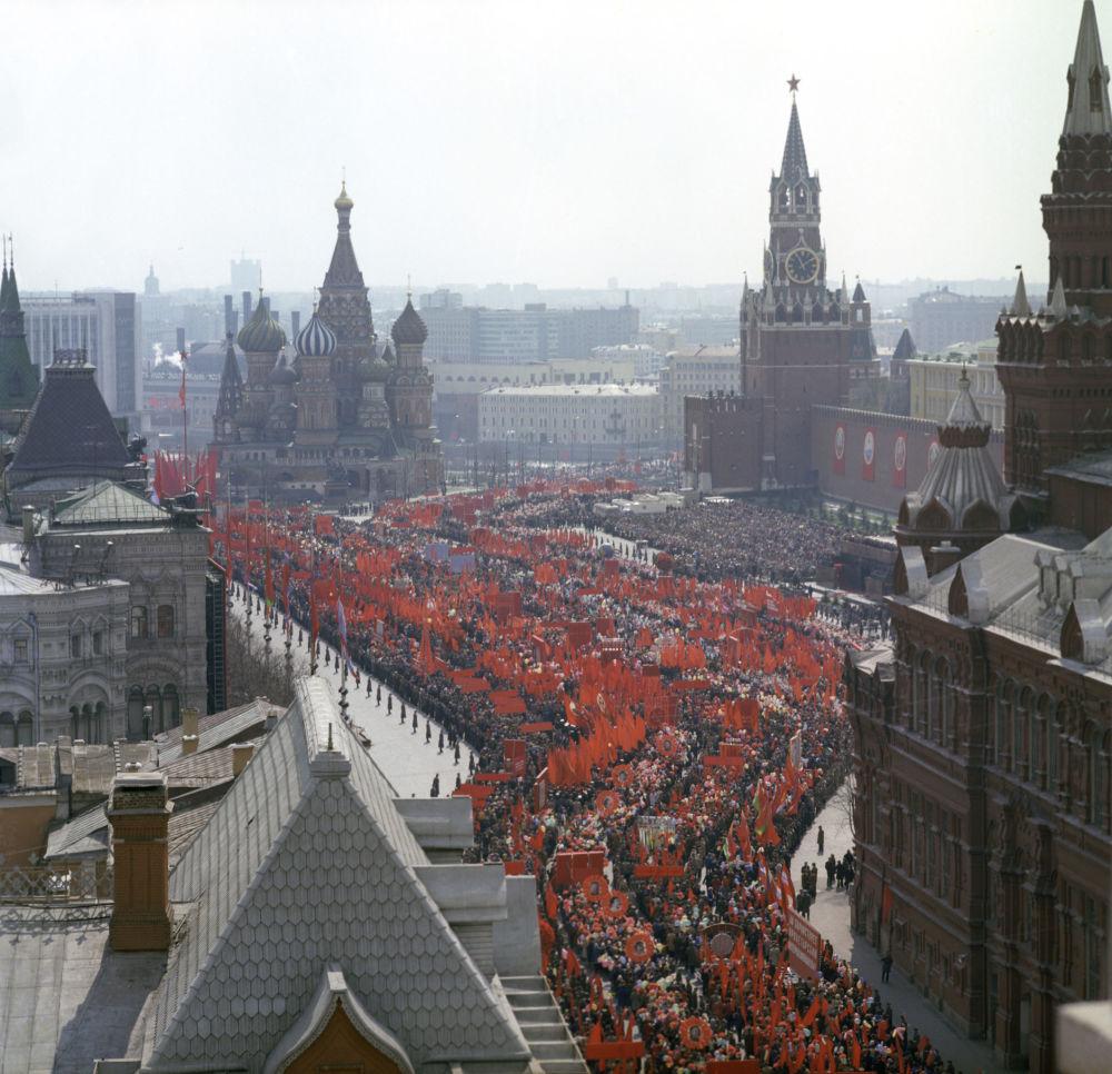 1976年5月1日紅場勞動人民大遊行。