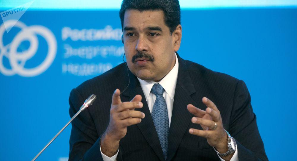 Президент Боливарианской Республики Венесуэла Николас Мадуро на пленарном заседании в Москве
