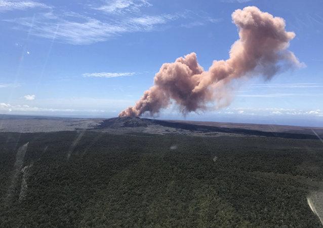 在夏威夷的基拉韋厄火山爆發