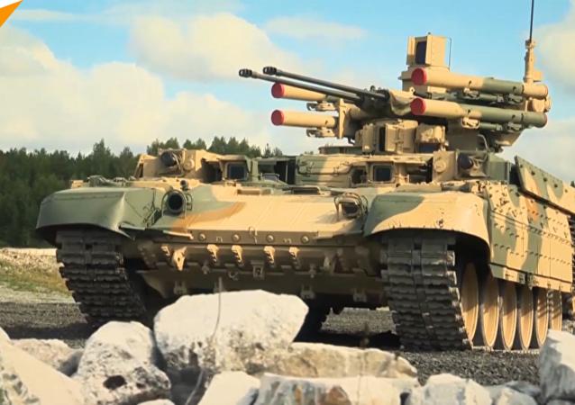 """俄国防部展示""""终结者""""坦克战斗能力"""