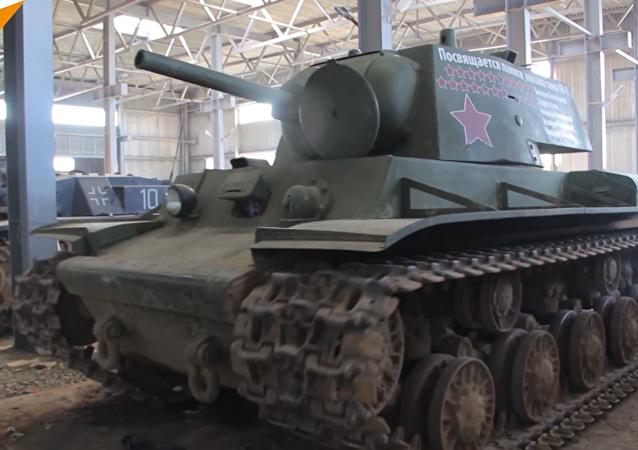 白俄罗斯修复伟大卫国战争时期坦克