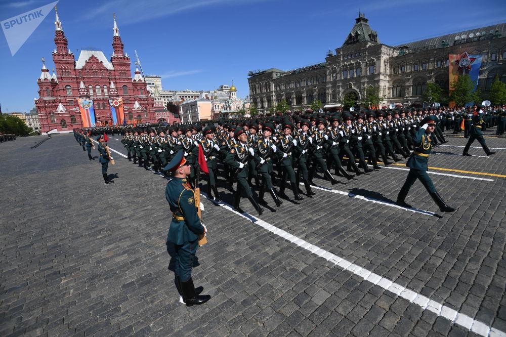 莫斯科红场卫国战争胜利73周年阅兵