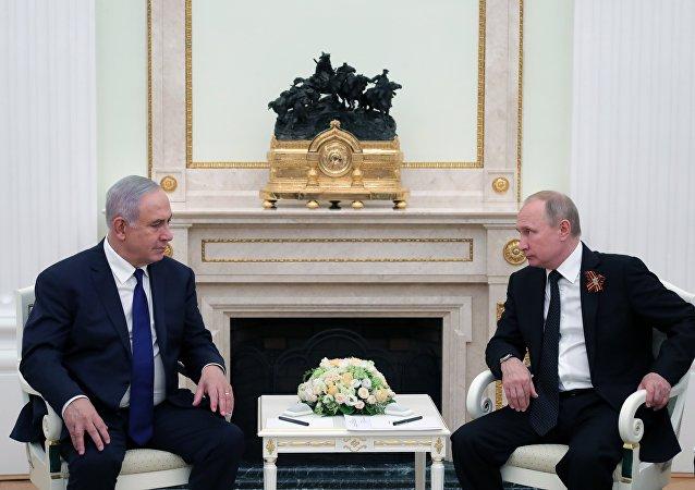 普京與內塔尼亞胡會晤期間稱地區局勢嚴峻