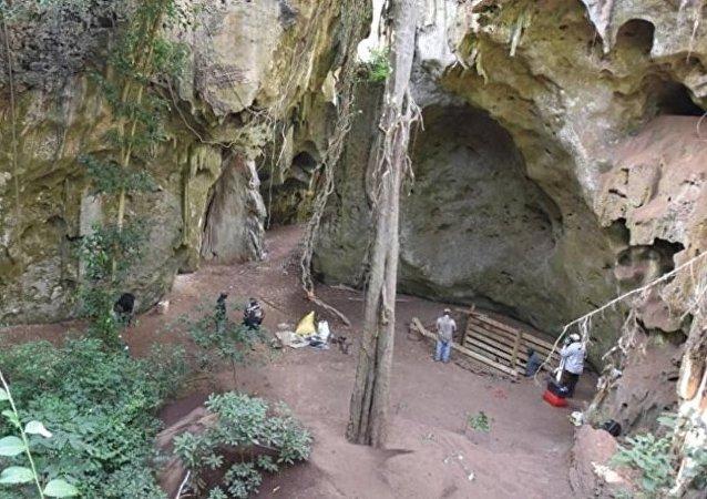 肯尼亚洞穴的古人类遗址