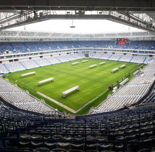 Стадион Калининград на острове Октябрьский в Калининграде