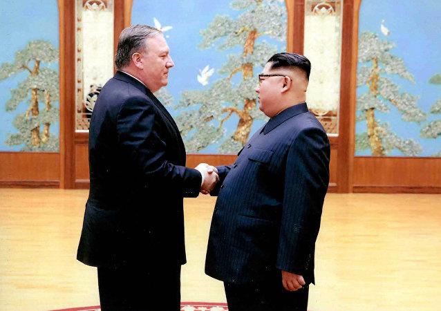 蓬佩奧與金正恩會晤並稱朝鮮之行「很好」