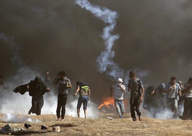 一名巴勒斯坦人在與以色列軍隊發生衝突後受傷死亡