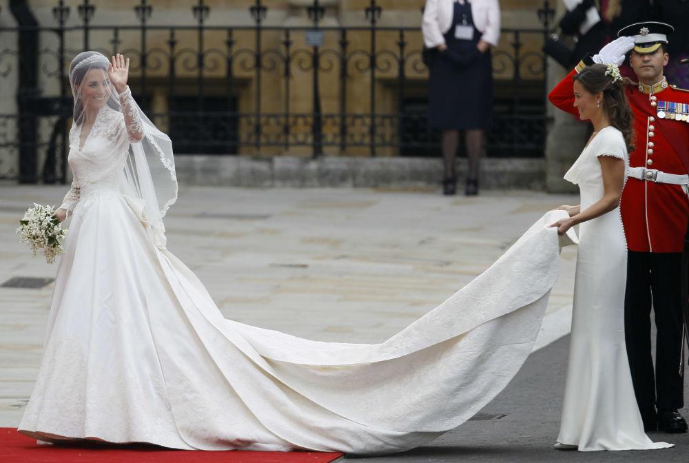 凱特·米德爾頓在倫敦舉行的婚禮上