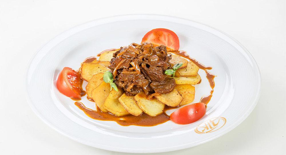 鞑靼烤马肉(凉菜)