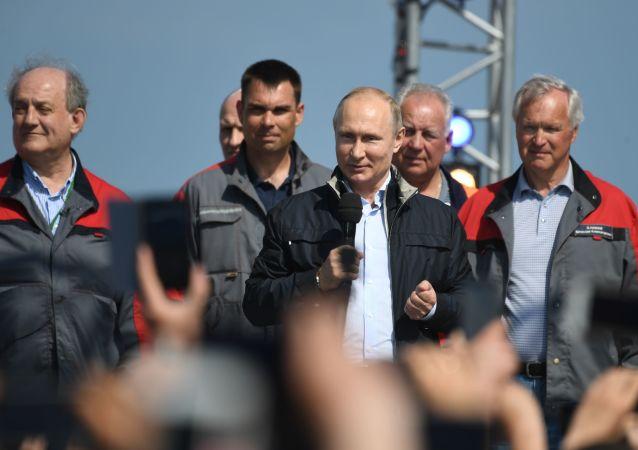 普京:跨刻赤海峡大桥对克里米亚和俄南部发展具有重要意义