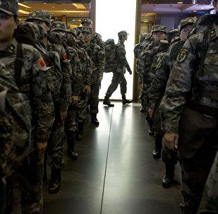 中國第六批赴馬里維和部隊出征