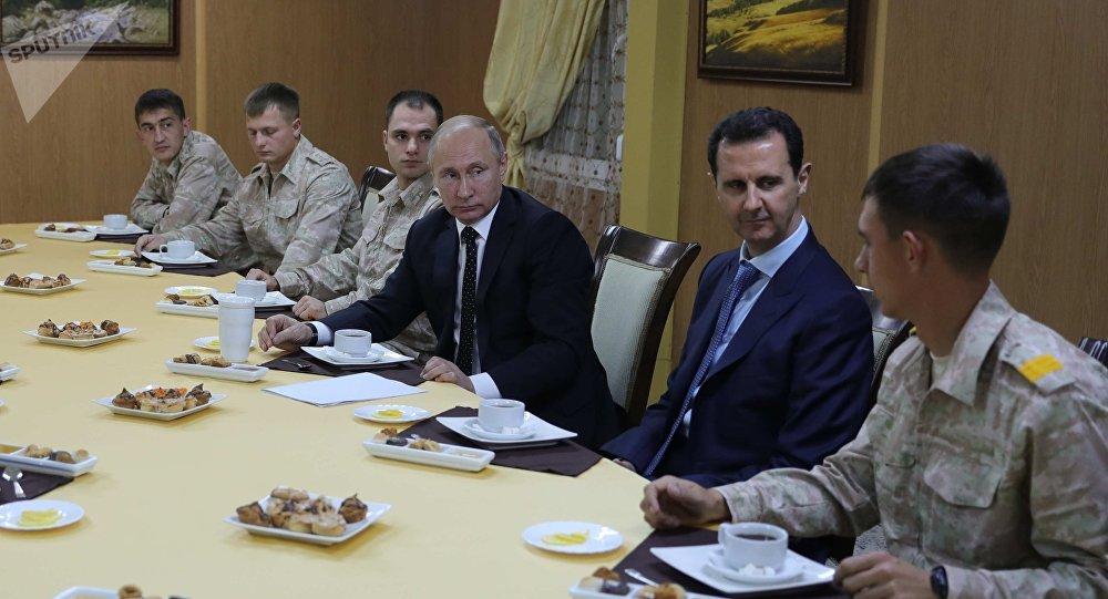 佩斯科夫稱普京在索契會見阿薩德