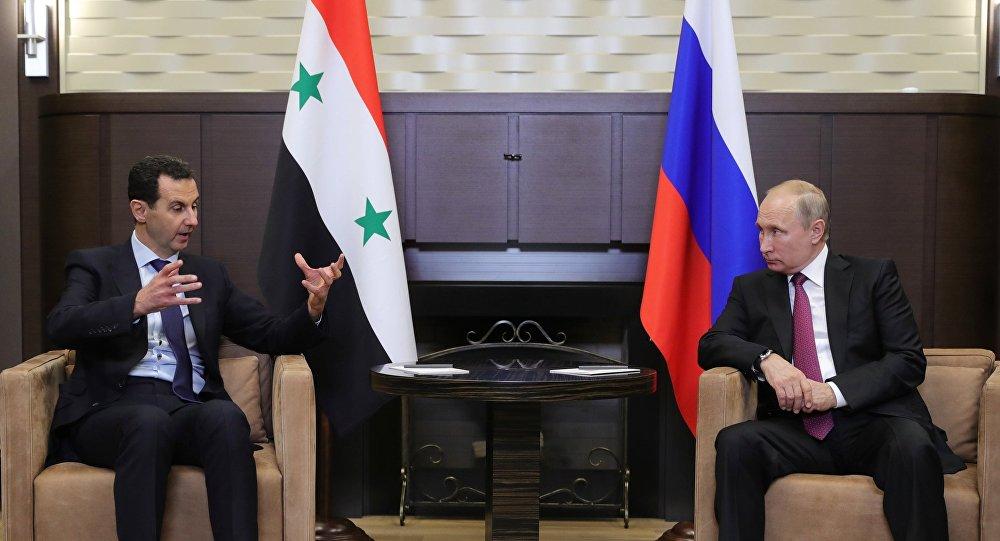 普京在索契会见阿萨德
