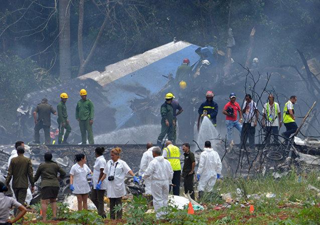 媒體:古巴空難三名幸存者狀況穩定但仍有生命危險
