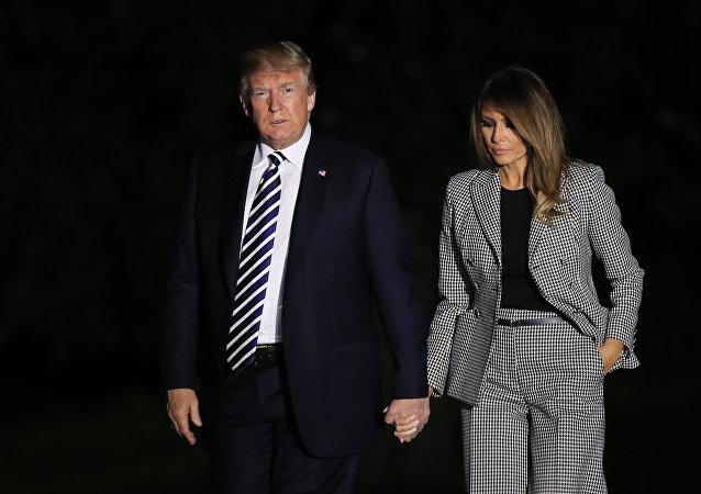 特朗普称他与夫人梅拉尼娅的关系从未像现在这么良好