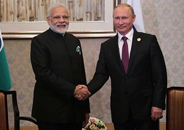 莫迪期待與普京的會晤將加強兩國戰略夥伴關係