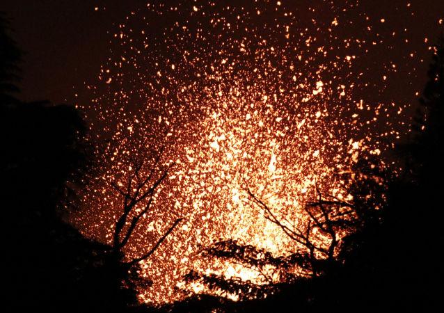 夏威夷基拉韋厄火山噴發