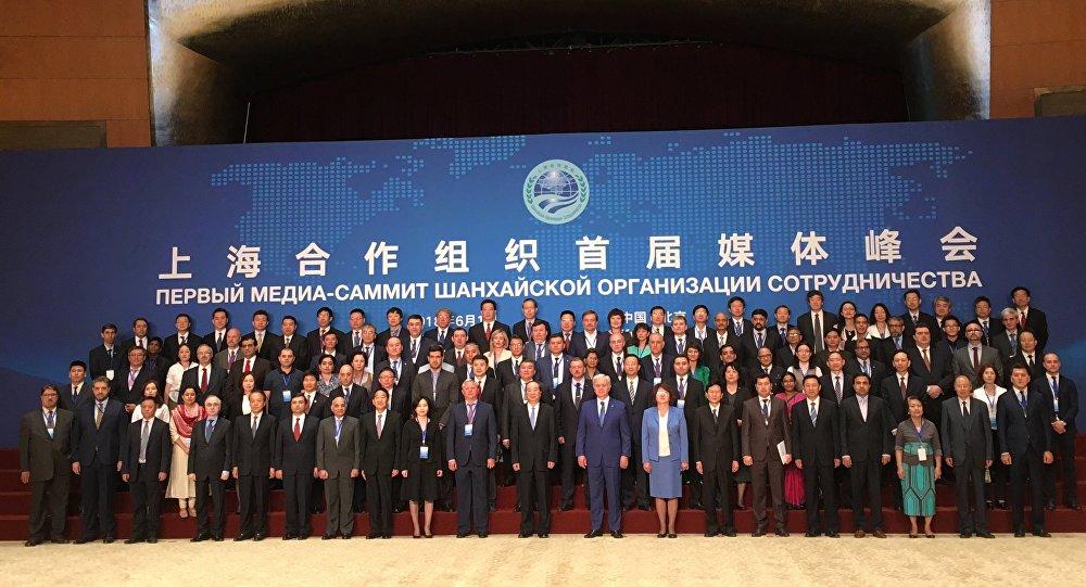 俄罗斯卫星通讯社和广播电台出席北京上合组织媒体峰会