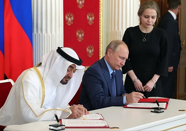 俄羅斯和阿聯酋簽署戰略合作夥伴關係宣言