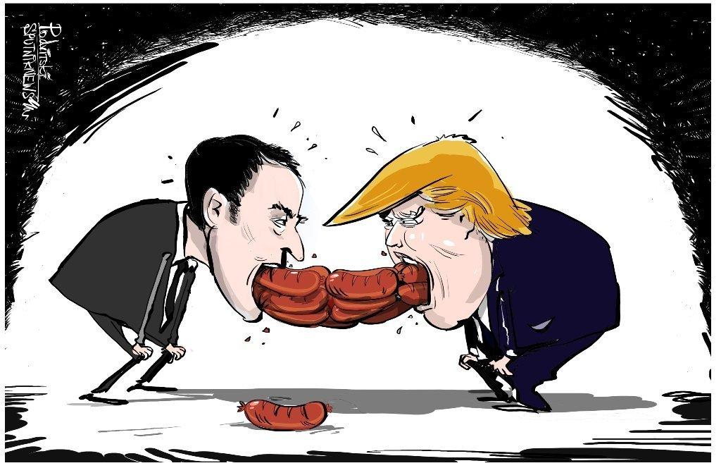 马克龙拒绝透露与特朗普会谈的内容:香肠是什么做的食客不必知道