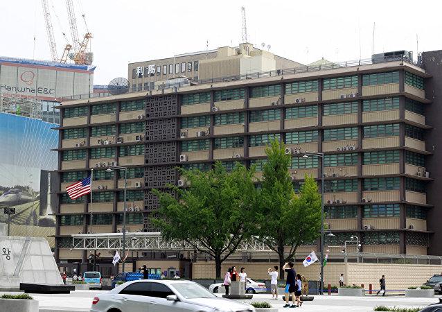 韩媒:美国驻韩使馆遭小轿车冲撞