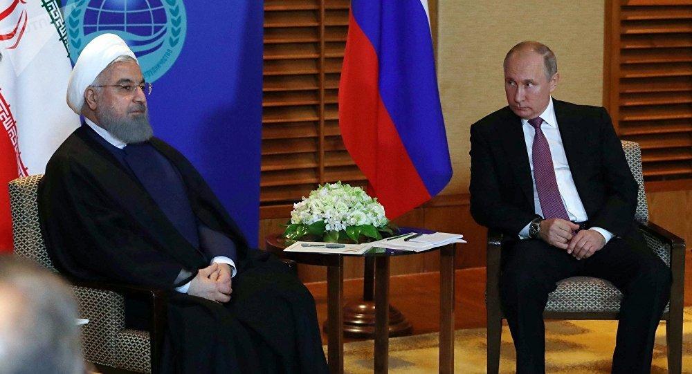 俄總統普京與伊朗總統魯哈尼