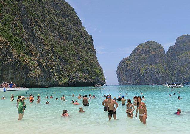 泰国著名的玛雅海滩