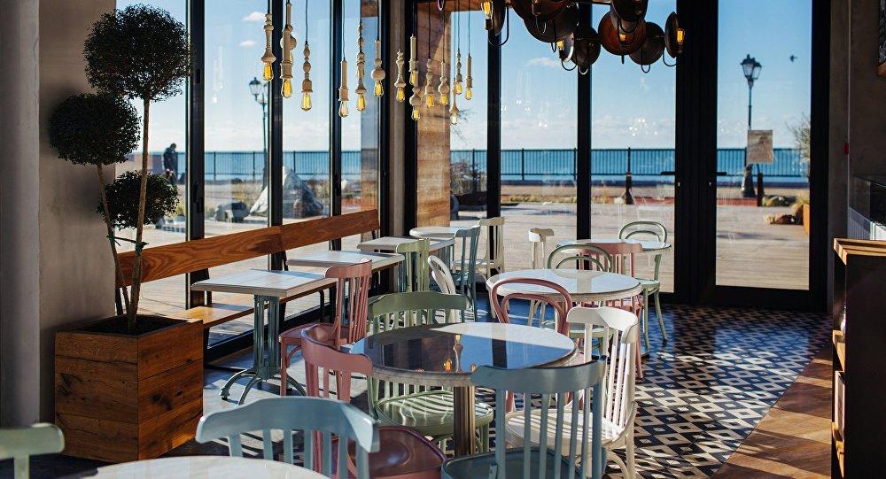 Интерьер ресторана 5642 ВЫСОТА в Сочи