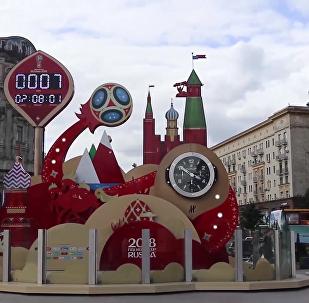"""莫斯科洋溢着""""世界杯""""气息"""