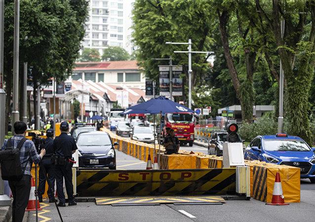 金正恩下榻的酒店附近已加强安全保障措施