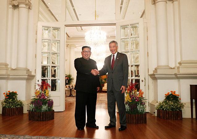 金正恩已经与新加坡总理见面