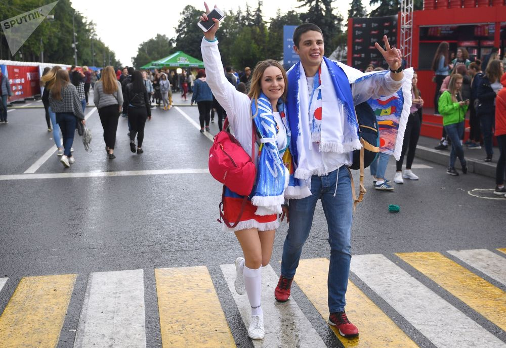 2018世界杯球迷節在莫斯科啓幕