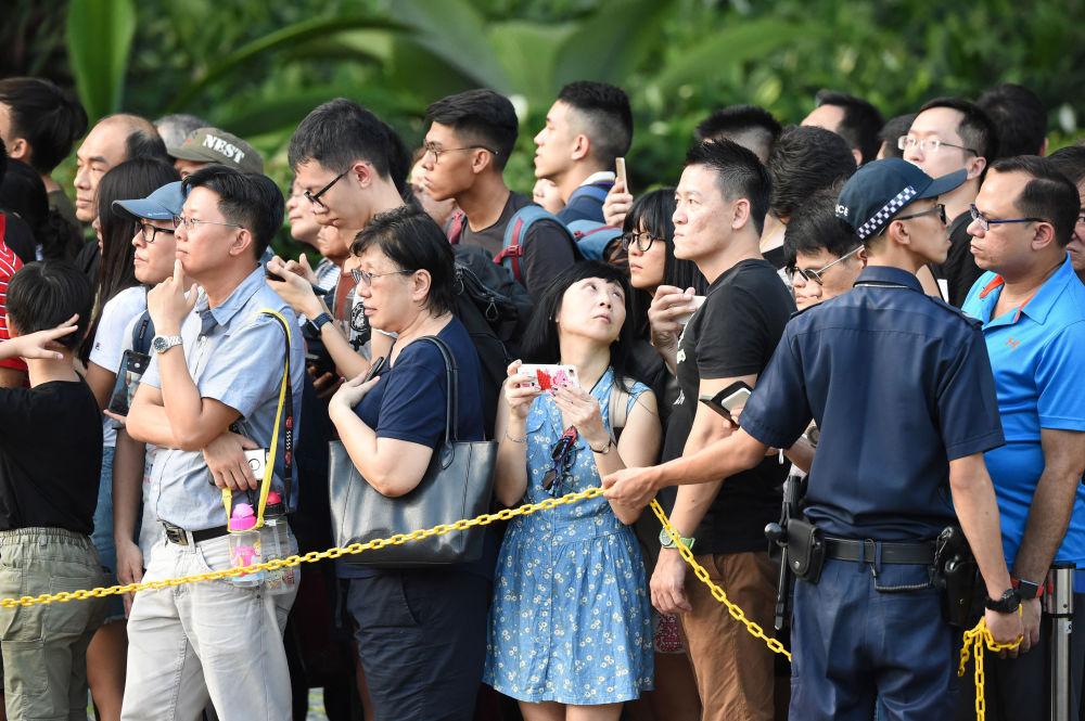特朗普和金正恩抵达新加坡