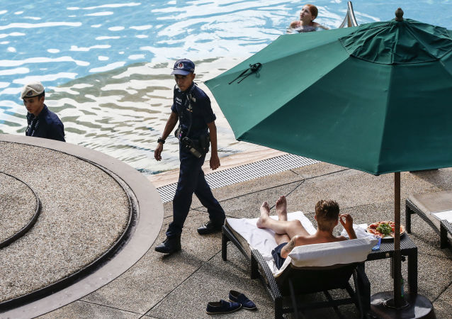美朝峰会举办地圣淘沙岛周二正常开放