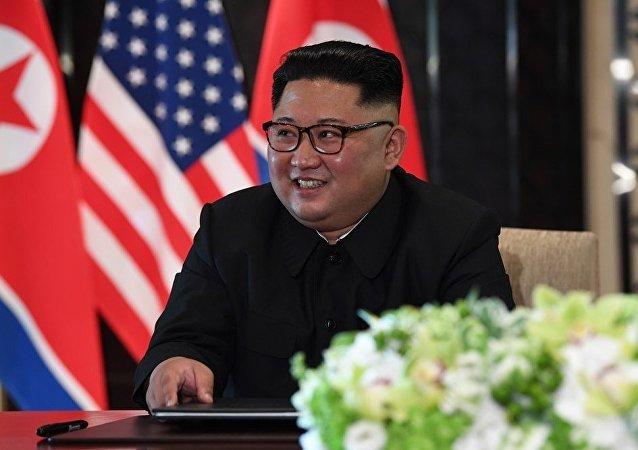 金正恩在新加坡峰會