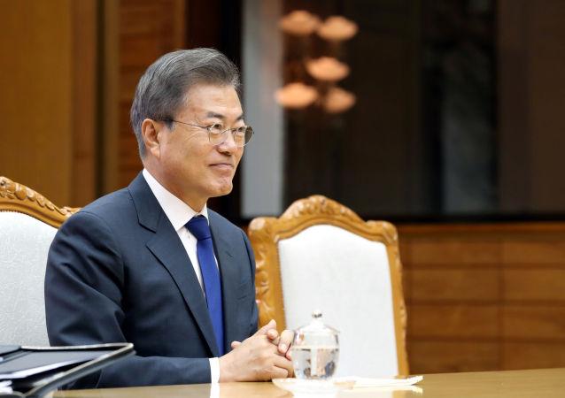 韩国总统文在寅在