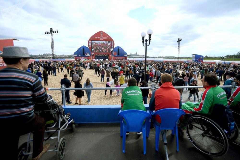 俄罗斯各地的世界杯球迷节