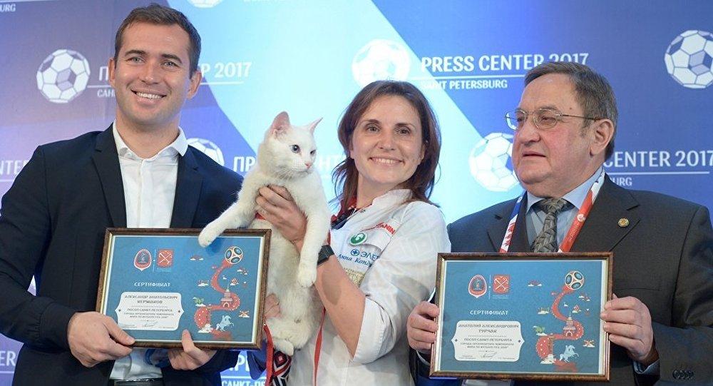 圣彼得堡的著名猫咪预测官将预测世界杯首场比赛结果
