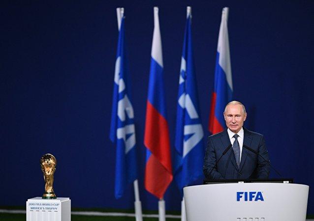 2018世界杯开幕前夕,普京表示,俄罗斯已准备好举办世界杯足球赛,并为所有球迷提供舒适的环境