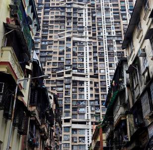 印度孟买摩天大楼起火