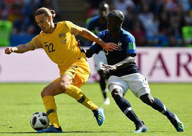 2018世界杯赛法国队战胜澳大利亚队