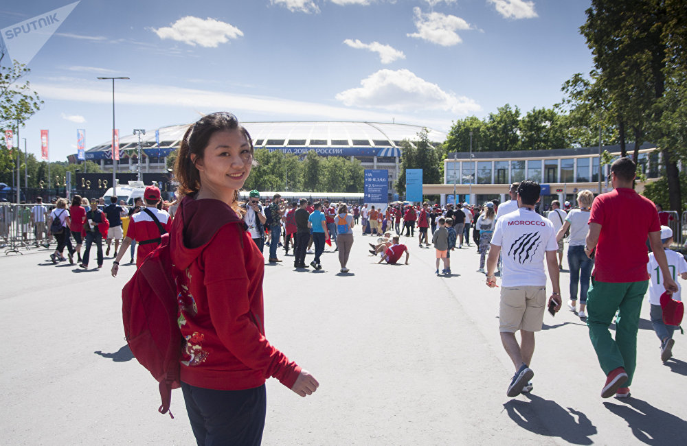张溪格作为FIFA官方中国志愿者,主要负责世界杯期间活动策划部分
