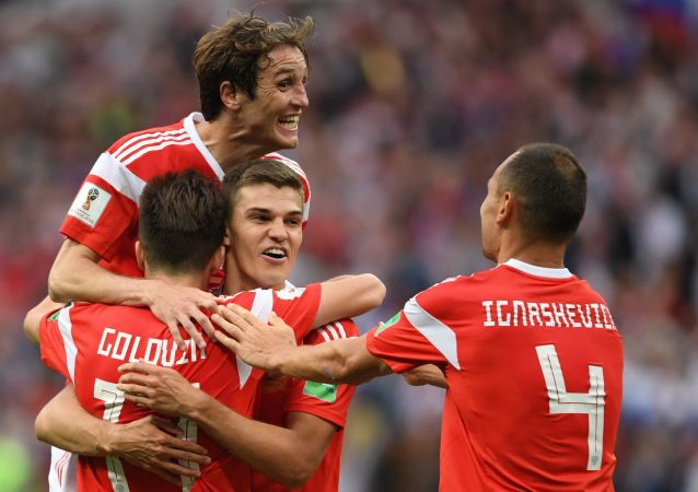 普京祝俄國足在接下來的比賽中取得勝利