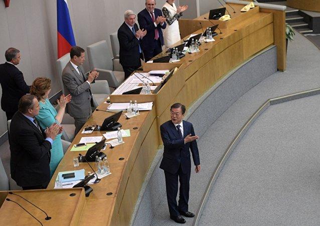 韩国总统在俄罗斯国家杜马